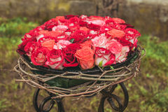 Decorazione del fiore di nozze Fotografia Stock Libera da Diritti