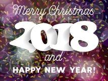 Decorazione 2018 del fondo del buon anno e di Buon Natale G Immagine Stock