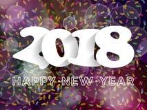 Decorazione 2018 del fondo del buon anno Progettazione della cartolina d'auguri Immagini Stock Libere da Diritti