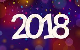 Decorazione 2017 del fondo del buon anno Illustrazione Vettoriale