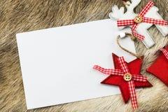 Decorazione del fondo di Natale per la cartolina d'auguri Fotografie Stock Libere da Diritti