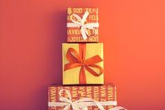 Decorazione del fondo di Natale Progettazione fatta a mano Fotografia Stock Libera da Diritti