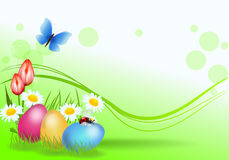 Decorazione del fondo di Pasqua royalty illustrazione gratis