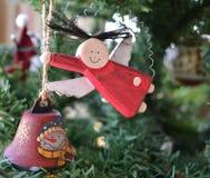 Decorazione del giocattolo di angelo dell'albero di Natale fotografia stock libera da diritti