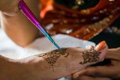 Decorazione del hennè Fotografie Stock Libere da Diritti