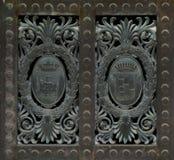 Decorazione del metallo (modello astratto della natura) Fotografia Stock Libera da Diritti