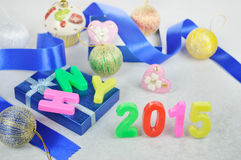 Decorazione 2015 del nuovo anno Fotografia Stock Libera da Diritti