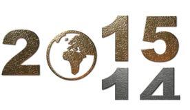 Decorazione del nuovo anno, 2014 - 2015 Fotografia Stock