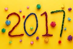 Decorazione 2017 del nuovo anno Fotografia Stock