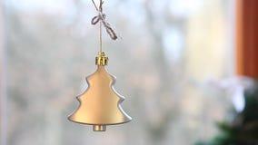 Decorazione del nuovo anno di Natale dal camino video d archivio