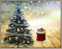 Decorazione del nuovo anno e di Natale per la festa rappresentazione 3d Fotografia Stock
