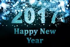 Decorazione del nuovo anno, primo piano sugli ambiti di provenienza dorati Fotografie Stock