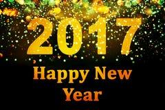 Decorazione del nuovo anno, primo piano sugli ambiti di provenienza dorati Immagine Stock