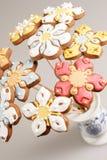Decorazione del pan di zenzero di Pasqua Fotografia Stock