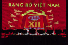 Decorazione del partito comunista nel Vietnam Fotografia Stock Libera da Diritti