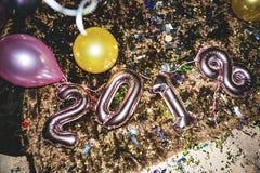 Decorazione del partito da 2018 nuovi anni Immagini Stock Libere da Diritti