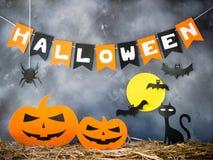 Decorazione del partito di Halloween fotografia stock libera da diritti
