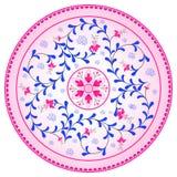 Decorazione del piatto - fogli e fiori Immagini Stock Libere da Diritti