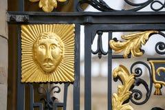 Decorazione del portone Oxford, Inghilterra Fotografia Stock Libera da Diritti