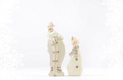 Decorazione del pupazzo di neve di American National Standard di Santa Claus Fotografia Stock