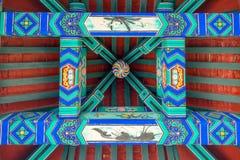 Decorazione del soffitto del tempio Fotografie Stock