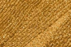 Decorazione del tessuto di reticolato dell'oro Immagini Stock