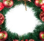 Decorazione dell'albero di Natale su una priorità bassa bianca Fotografia Stock Libera da Diritti