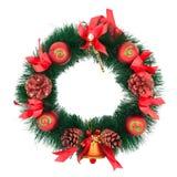 Decorazione dell'albero di Natale su una priorità bassa bianca Fotografie Stock