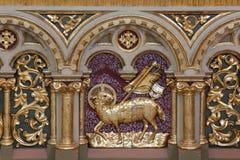Decorazione dell'altare nella chiesa di St Matthew in Stitar, Croazia Immagine Stock Libera da Diritti