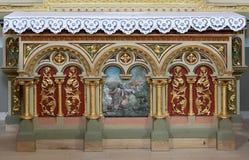 Decorazione dell'altare nella chiesa di St Matthew in Stitar, Croazia Immagini Stock Libere da Diritti