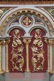 Decorazione dell'altare nella chiesa di St Matthew in Stitar, Croazia Fotografia Stock