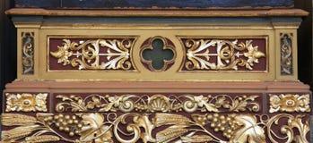 Decorazione dell'altare nella chiesa di St Matthew in Stitar, Croazia Fotografia Stock Libera da Diritti