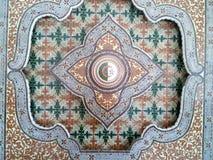 Decorazione dell'artigianato con la bandiera dell'Algeria Immagine Stock