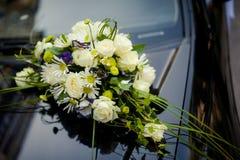 Decorazione dell'automobile di nozze Fotografia Stock Libera da Diritti