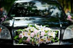 Decorazione dell'automobile di nozze Immagini Stock Libere da Diritti