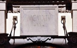 Decorazione dell'entrata del monumento storico, Mosca, Russia fotografia stock