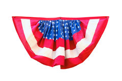 Decorazione della bandiera di U.S.A. isolata su fondo bianco Fotografia Stock Libera da Diritti