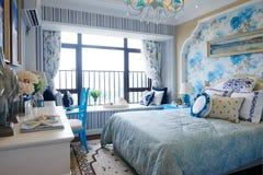 Decorazione della camera da letto della casa di Morden immagine stock
