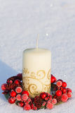Decorazione della candela di natale immagine stock libera da diritti