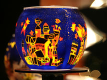 Decorazione della candela di natale immagini stock libere da diritti