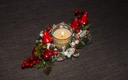 Decorazione della candela della Tabella Fotografia Stock