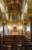 Decorazione della capella Palantina nella città di Palermo Fotografie Stock