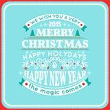 Decorazione della cartolina di Natale Tipografia, vettore Immagine Stock Libera da Diritti