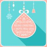Decorazione della cartolina di Natale Tipografia, vettore Fotografie Stock