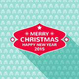 Decorazione della cartolina di Natale Tipografia, vettore Immagini Stock