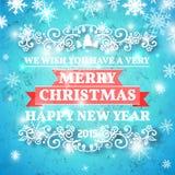 Decorazione della cartolina di Natale Tipografia, vettore Fotografie Stock Libere da Diritti