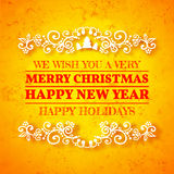 Decorazione della cartolina di Natale Tipografia, vettore Immagine Stock