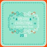 Decorazione della cartolina di Natale Tipografia, vettore Fotografia Stock Libera da Diritti