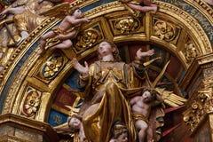 Decorazione della chiesa medievale Fotografie Stock