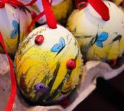decorazione della coccinella dell'uovo di Pasqua Fotografie Stock